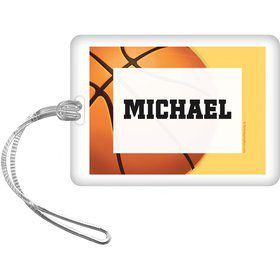Basketball Party Personalized Bag Tag (each)