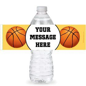 Basketball Party Personalized Bottle Labels (Sheet of 4)