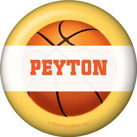 Basketball Party Personalized Button (each)