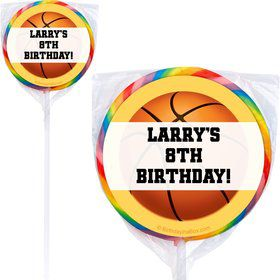 Basketball Party Personalized Lollipop (Pack of 12)