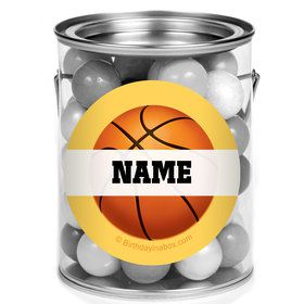 Basketball Party Personalized Mini Paint Cans (12 Count)