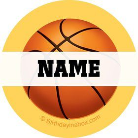 Basketball Party Personalized Mini Stickers (Sheet of 24)