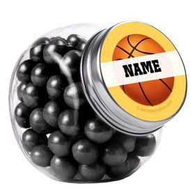 Basketball Party Personalized Plain Glass Jars (12 Count)