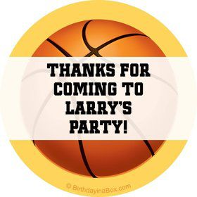 Basketball Party Personalized Sticker
