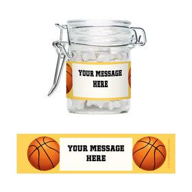 Basketball Party Personalized Swing Top Apothecary Jars (12 ct)
