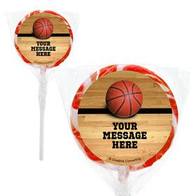 "Basketball Personalized 2"" Lollipops (20 Pack)"