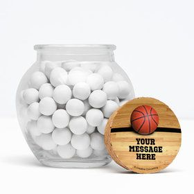 """Basketball Personalized 3"""" Glass Sphere Jars (Set of 12)"""