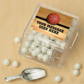 Basketball Personalized Candy Bin with Candy Scoop (10 Count)