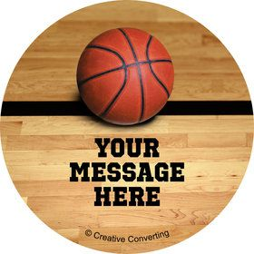 Basketball Personalized Mini Stickers (Sheet of 24)
