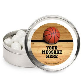 Basketball Personalized Mint Tins (12 Pack)
