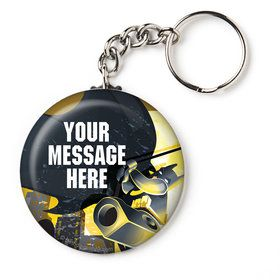 "Bat Blocks Personalized 2.25"" Key Chain (Each)"