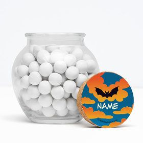 "Bat Personalized 3"" Glass Sphere Jars (Set of 12)"