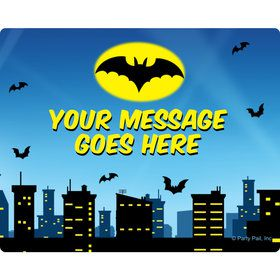 Bat Personalized Rectangular Stickers (Sheet of 15)