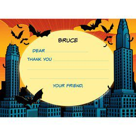 Bat Personalized Thank You Note (each)