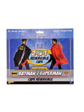 Batman/superman Reversible Cape