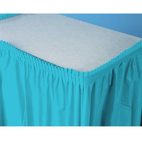 Bermuda Blue (Turquoise) Plastic Table Skirt