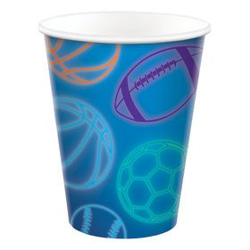 Birthday Baller 9oz Paper Cups (8)