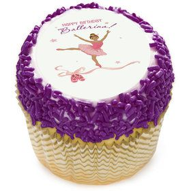 "Birthday Ballerina 2"" Edible Cupcake Topper (12 Images)"