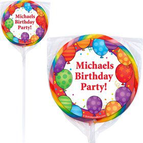 Birthday Balloons Lollipops (Pack Of 12)
