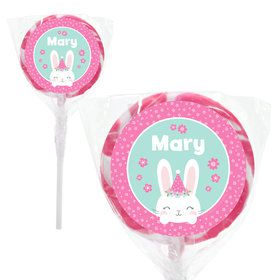 "Birthday Bunny Personalized 2"" Lollipops (20 Pack)"
