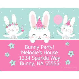 Birthday Bunny Personalized Address Labels (Sheet of 15)