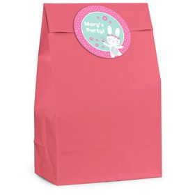 Birthday Bunny Personalized Favor Bag (12 Pack)