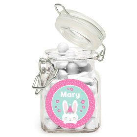 Birthday Bunny Personalized Glass Apothecary Jars (12 Count)