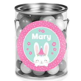 Birthday Bunny Personalized Mini Paint Cans (12 Count)