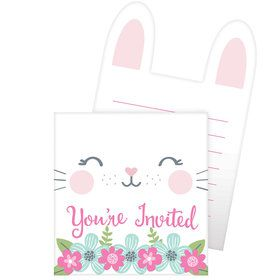 Birthday Bunny Pop Up Invitations (8)