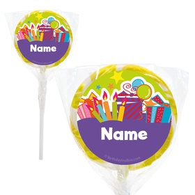 "Birthday Burst Personalized 2"" Lollipops (20 Pack)"