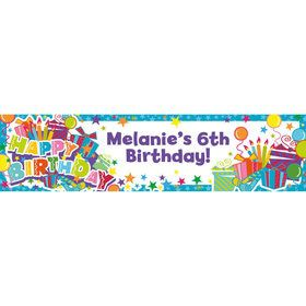 Birthday Burst Personalized Banner (Each)