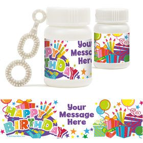 Birthday Burst Personalized Bubbles (18 Pack)