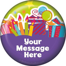 Birthday Burst Personalized Button (Each)
