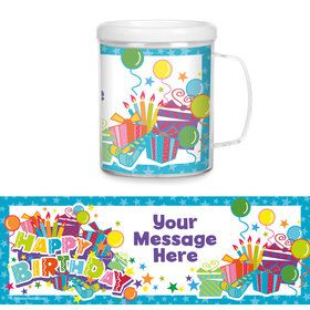Birthday Burst Personalized Favor Mug (Each)