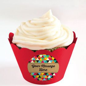 Birthday Craft Personalized Cupcake Wrappers (Set of 24)