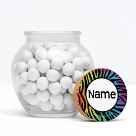"Birthday Doodle Personalized 3"" Glass Sphere Jars (Set of 12)"