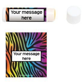 Rainbow Zebra Personalized Lip Balm (1