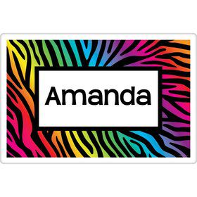 Rainbow Zebra Personalized Placemat