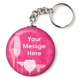 "Birthday Fabulous Personalized 2.25"" Key Chain (Each)"