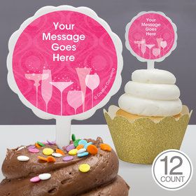 Birthday Fabulous Personalized Cupcake Picks (12 Count)