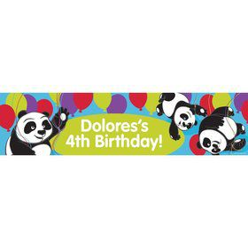 Birthday Panda Personalized Banner (Each)