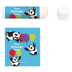Birthday Panda Personalized Lip Balm (12 Pack)