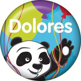 Birthday Panda Personalized Mini Magnet (Each)