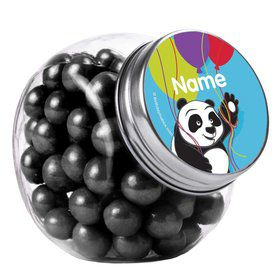 Birthday Panda Personalized Plain Glass Jars (10 Count)