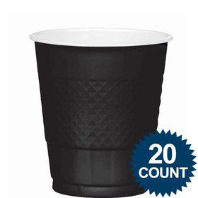 Black 12oz. Plastic Cups (20 Pack)