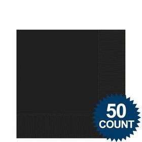 Black 2-Ply Beverage Napkins, 50ct.
