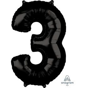 Black 26 Number Foil Balloon - 3