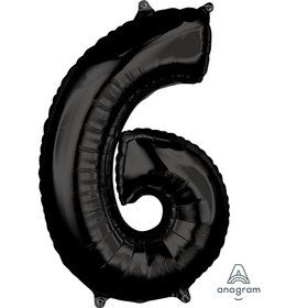 Black 26 Number Foil Balloon - 6
