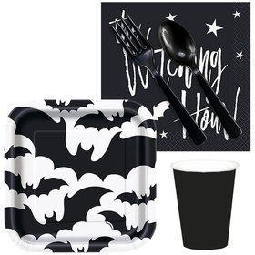 Black Bats Halloween Snack Pack For 16