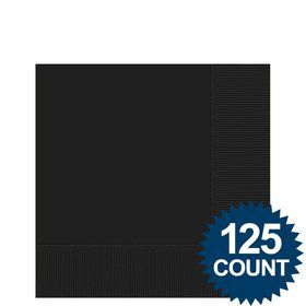 Black Beverage Napkins (125 Pack)